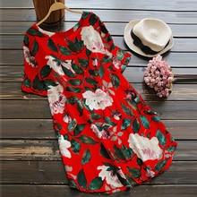 ZANZEA Summer Dress 2018 Women Adjustable Sleeve Flower Printed Long Top Loose Cotton Vestidos Boho Beach Mini Dress Plus Size