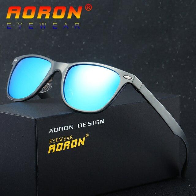 ea0035b926 AORON Brand Designer Driving Summer Mirror Sun Glasses Male Eyewear  Accessories 8154 Polarized Sunglasses For Women Men