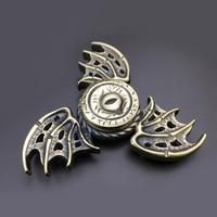 New Fidget Spinner Monster Eye Wing EDC Tri Hand Finger Spinner Metal Fidget Spinners Stress Austism