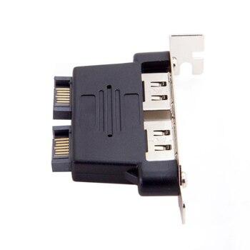 цена на Chenyang Dual Port SATA 7pin to Esata 7Pin Adapter Male to Male with Low Profile PCI-E Bracket