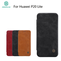 NILLKIN Case For Huawei P20 Lite Leather Cover For Huawei Nova 3E Book Style Cell Phone Cases