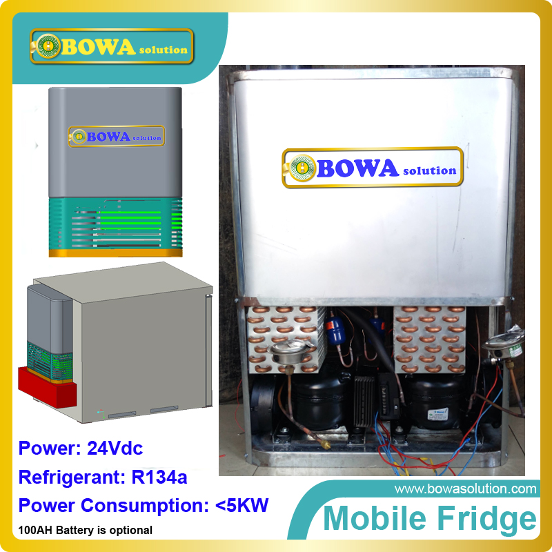 DC24V Mobile all-in-one refrigeration plant ( mobile fridge unit) is suitable for refrigerated trailer, mobile mini cold room portable refrigerant recovery unit suitable for commerce refrigerated cabinet