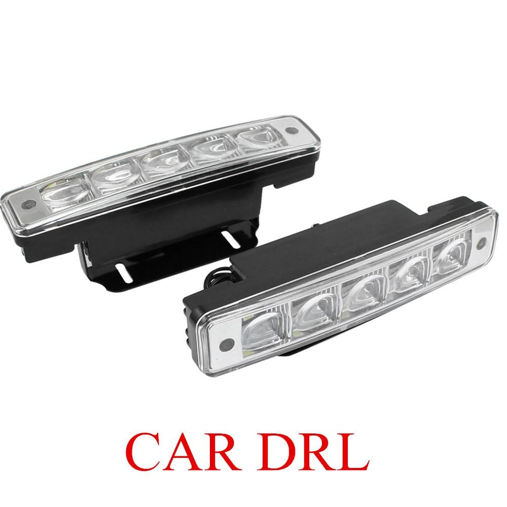 hot sell car daytime running lights high power waterproof 10W Highlight 2PCS/ Set 5 LED DRL White car light