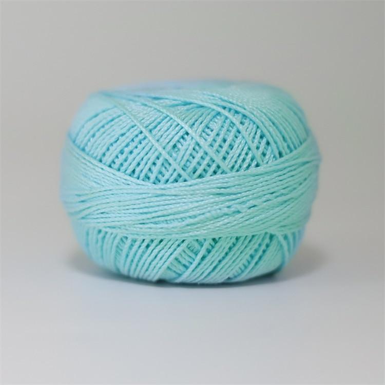 Размер 3 хлопковая Жемчужная Нить египетская длинная Штапельная хлопковая пряжа газированная двойная мерсеризованная 6 нитей плетение 50 грамм на шарик - Цвет: 710
