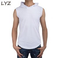 8b987e785f Gyms Clothing Fitness Men Hoodie Tank Top With Hooded Mens Bodybuilding  Stringers Tank Tops Workout Singlet