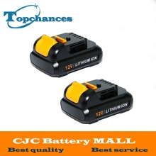 2pcs High Quality power tool Battery For Dewalt 12V 1.5Ah 1500mah MAX Li-ion DCB120 DCD710 DCF813 DCF815 DCF610