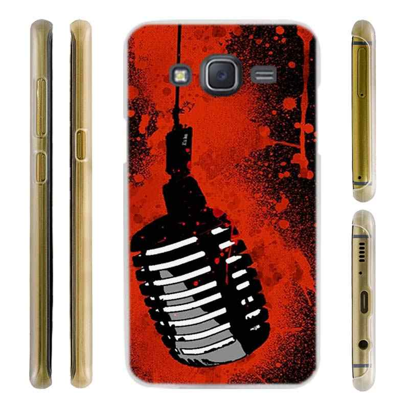 Шели Музыка микрофон Прозрачный жесткий чехол для телефона для samsung J1 J2 J3 J4 J5 J6 J7 J8 2015 2016 2017 2018 J7 премьер J2 плюс