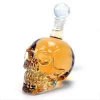 A 1000ML Creative Crystal Skull Extra Large Red Wine Bottle Vodka Glass A Glass Bottle Whiskey