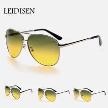 UV400 Polarisierte Sonnenbrille Nachtsichtgeräten Fahrer Brille Silber Nacht Fahren Sport Auto Gelb Anti-glare Sonnenbrille Männer