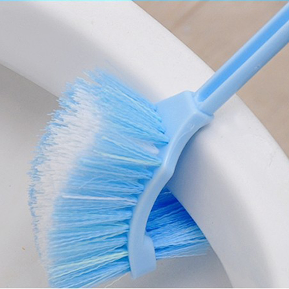 2018 Home Use Plastic Long Handle Bathroom Toilet Bowl Scrub Double ...