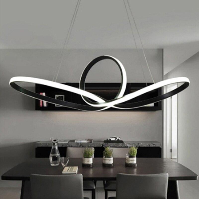 Moderne Led Lustre Pour Salon Salle À Manger Cuisine Chambre lampadari moderni un sospensione AC85-265V Suspendus Pendentif Lustre Lumières