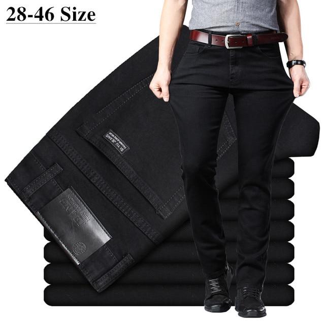 Men's Classic Black Jeans Elastic Slim 1