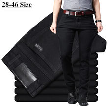 Men's Classic Black Jeans Elastic Slim Fit Denim Jean Trousers Male Plus Size 40 42 44 46 Business Casual Pants Brand(China)