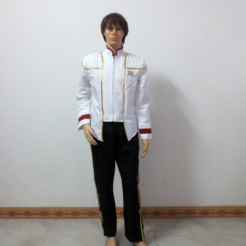 Star Trek Captain Picard Cosplay Costume Insurrection Nemesis Mess White Uniform Customize Any Size