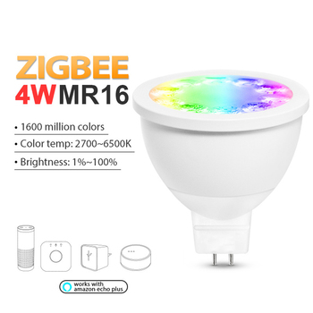 ZIGBEE 4 W RGBCCT MR16 2700 ~ 6500 K app di controllo di lavoro con Amazon echo plus e molti gateway zigbee caldo bianco freddo
