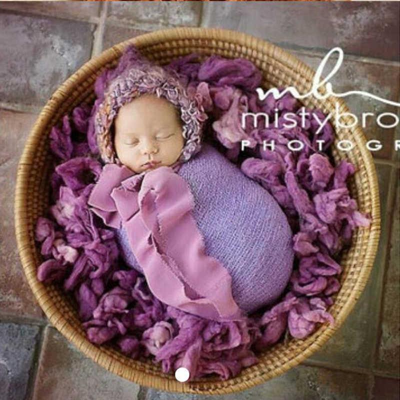 100% de relleno de lana pura manta Flokati accesorios de fotografía recién nacido cesta accesorios bebé sesión de fotos para estudio