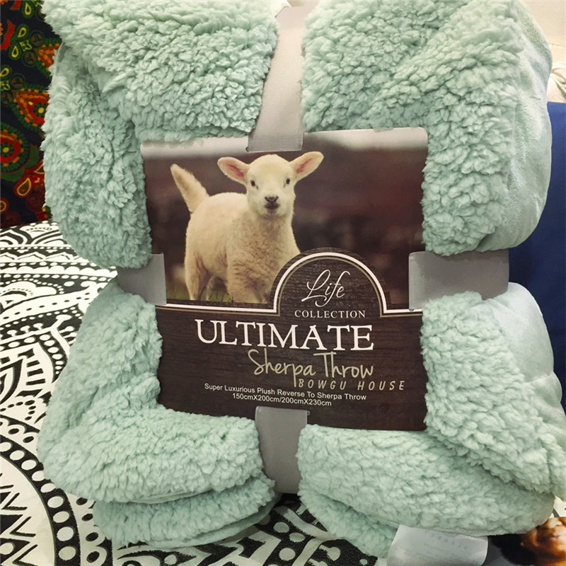 Fashionable Matcha Pure Color Lamb Flannel Fleece Throw Soft Warm Blanket  A Quilt Bedspread Blanket To On For The Sofa/Bed/Car the wedding quilt