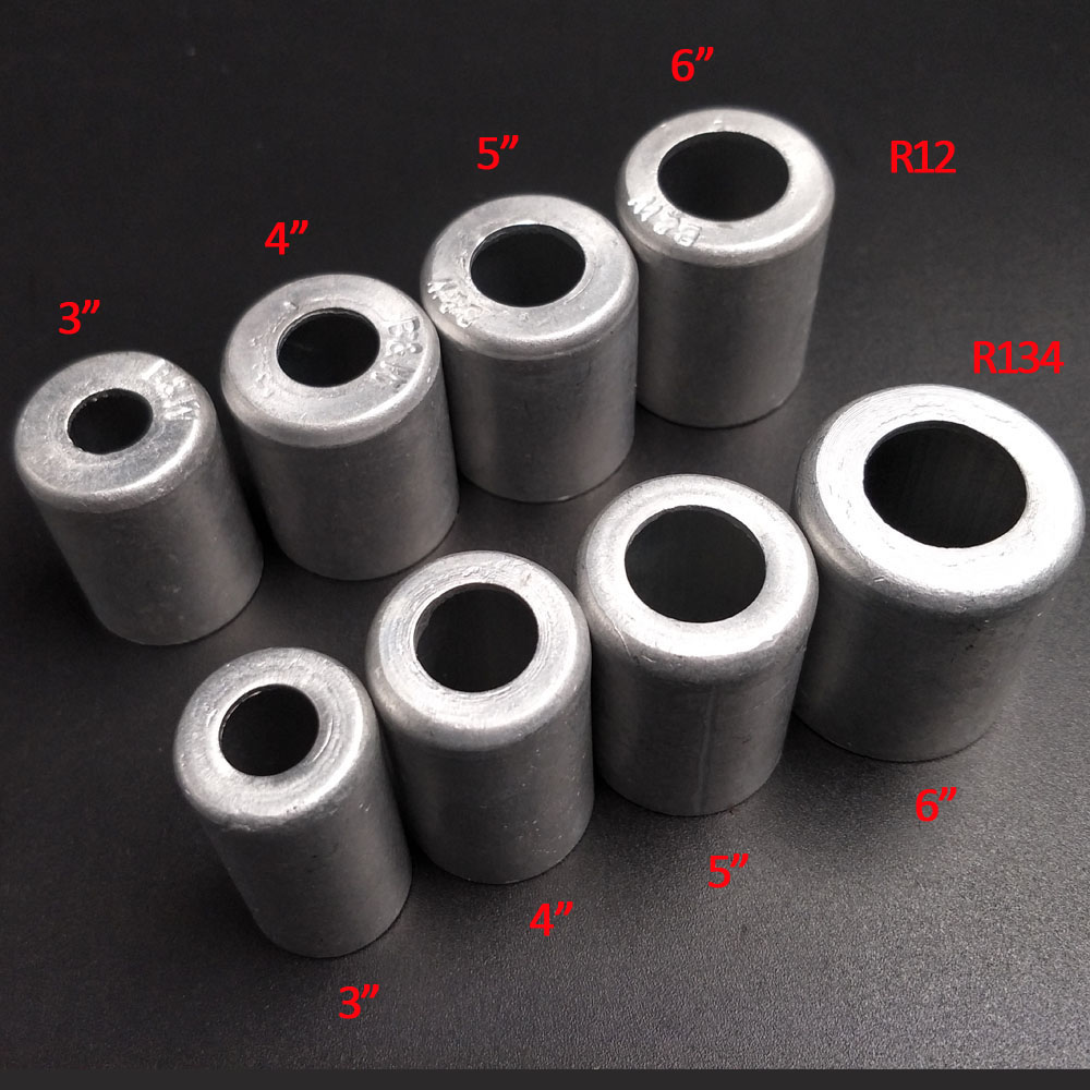 100pcs R12 R134 3 8 1 2 5 8 3 4 Aluminium Crimp Ferrule For Car