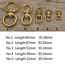 Meetee Pure Solid Brass Rotated D Ring Pet Connector Swivel Buckle Wallet Chain Metal  DIYLeather Craft Bags Accessories