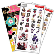 Fate Stay Night Sticker Anime Stickers Waterproof Plastic Transparent Decal Toy Stiker For Phone Laptop Book anime black butler plastic stickers transparent decal sticker for phone laptop book and other flat sticker children toy sticker