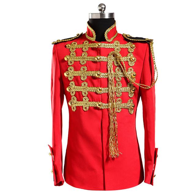 Homens jaqueta de estágio wear vermelho prom blazer Plus size masculino vestido formal real definir masculino formal , vestidos desempenho roupas outerwear