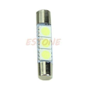 1Pc T6 3-SMD 5050 White LED Bulbs For Car Sun Visor Vanity Mirror Fuse Lights dropshipping image