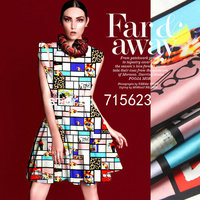 16026 halo silk shop Printed  Silk elastic Satin Fabric pure silk fabric