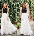 2016 Nueva Moda Vendedor Caliente Larga Mujer Tull Falda de Las Señoras de La Vendimia Vestidos de Verano Mujer Color Natural Partido de La Falda Envío Gratis