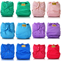 "JinoBaby ""I love Plain Color"" Baby Washable Diapers Super Dry Pocket Cloth Diapers (Pack of 10PCS)"