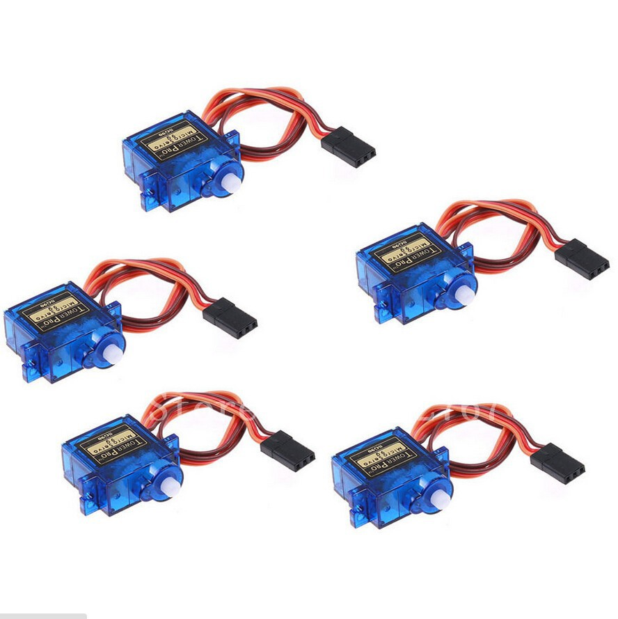 (5pcs/lot )Tower pro SG90 RC Micro Servo 9g For Arduino Aeromodelismo Align Trex 450 Airplane Helicopters Accessories