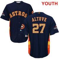 Programa juventud Houston Astros José Altuve Azul Majestuoso 2018 Oro Bajo Fresco Jersey Jugador