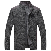 ICPANS High Quality Men Sweaters With Zippers Thick Fleece Warm Black Casual Winter Men Cardigan Wool 2018 Big Size XXXL