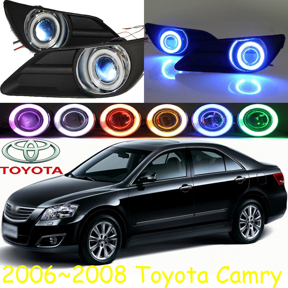 Car-styling,Camry fog lamp,2006~2008,chrome,Free ship!2pcs,Camry head light,car-covers,Halogen/HID+Ballast;Camry camry mirror lamp 2006 2007 2008 2009 2011 camry fog light free ship led camry turn light camry review mirror camry side light