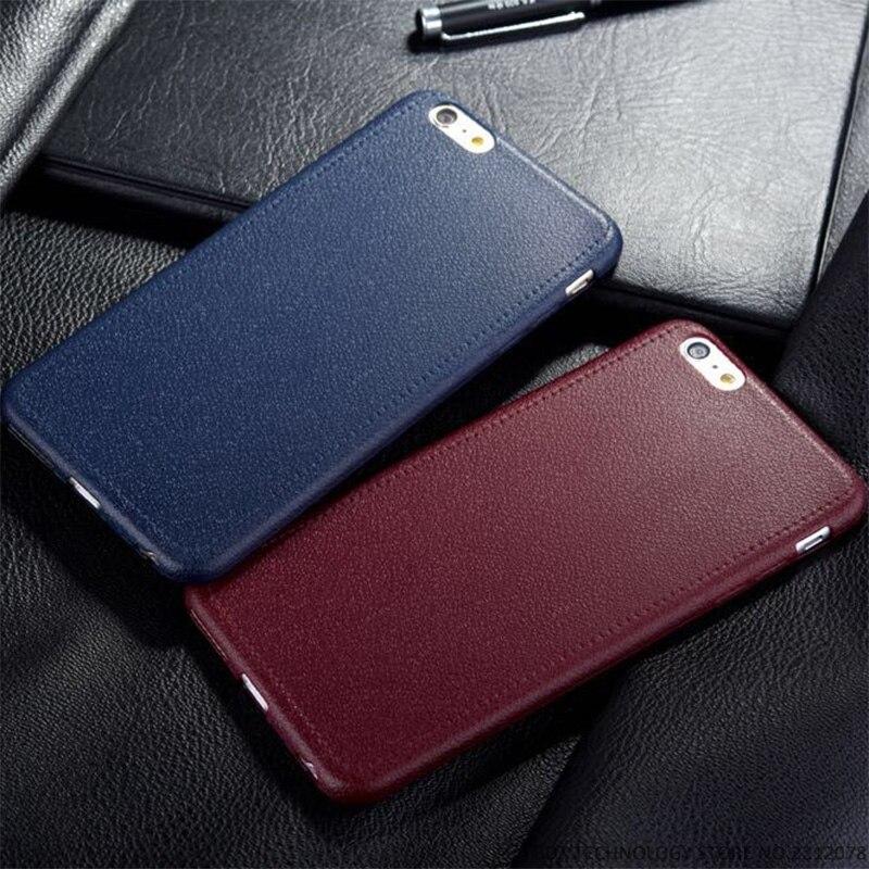 Patrón de Textura de Cuero Fino estupendo Del Teléfono Casos Para el iphone 5 5S