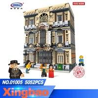 XingBao 01005 5052 шт. подлинной творческой MOC город серии морской музей набор детей строительные блоки кирпичи игрушки модель подарки