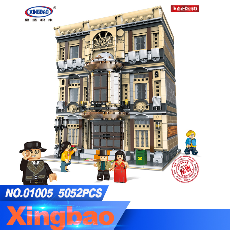 XingBao 01005 5052Pcs Genuine Creative MOC City Series The Maritime Museum Set Children Building Blocks Bricks Toys Model Gifts выключатель проходной одноклавишный с подсветкой werkel aluminium серо коричневый wl07 skgsc 01 ip44 wl07 sw 1g 2w led