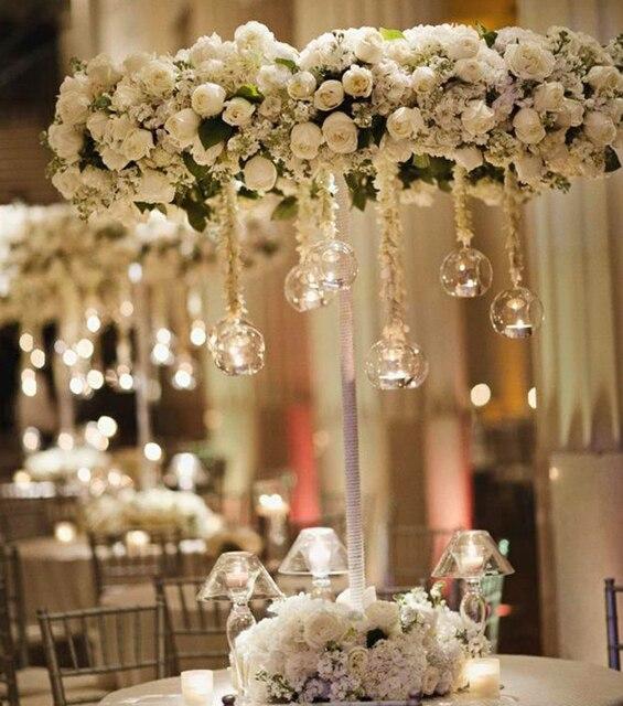 12pcs Brand Hanging Tealight Holder Gl Candle Globes Terrarium Wedding Candlestick Vase Home Hotel Bar