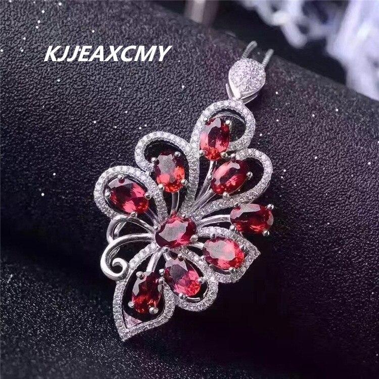 KJJEAXCMY boutique bijoux, grenat naturel, collier femme, pendentif, 925 argent sterling, ornements en argent