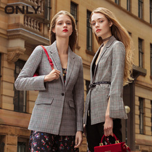 ONLY 2019 Spring Summer New Women's Thin Shoulder Pads Pure Color Lining Split Cuffs One-button Blazer |118108501