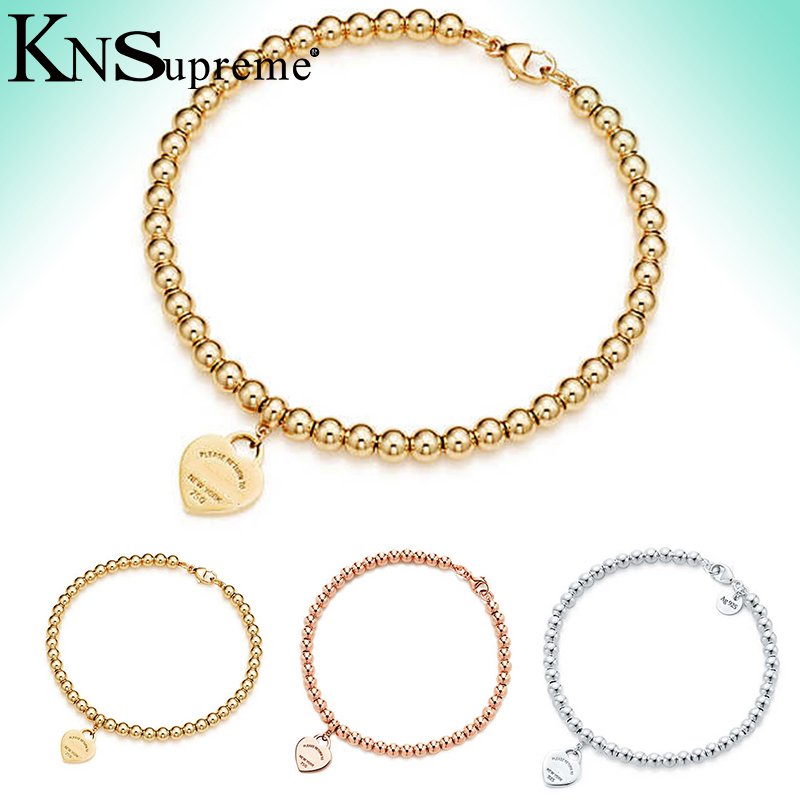 KN  tiff 8mm Bracelet Original 100% 925 Sterling Silver Women Free Shipping Jewelry High-end Quality Gift have logo 1:1