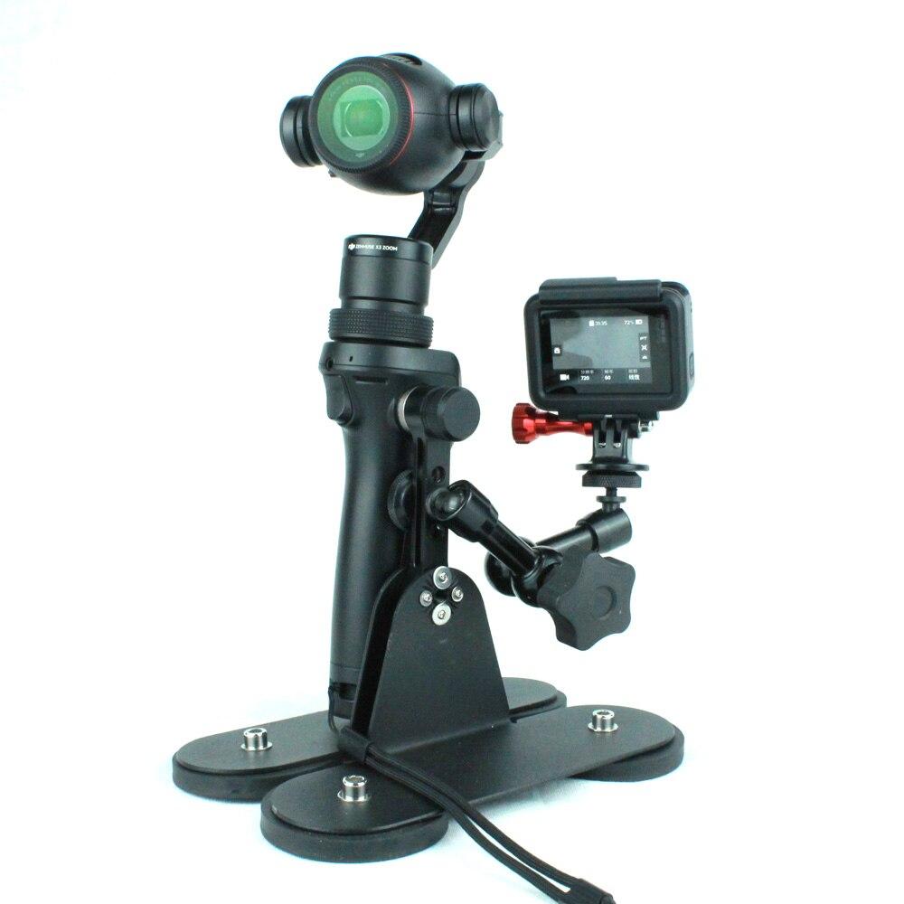 Magnétique caméra de voiture mont pour GOPRO HERO et DJI OSMO avec protection en caoutchouc et l'isolement