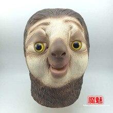 Realistic Zootopia Sloth Latex Mask Movie Protagonist Flash Full Head  Animal Mask Halloween Dress Party Cosplay 491aca745333