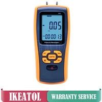 GM511 Portable Pressure Gauge Digital +/ 10 kPa Gas Pressure Manometer USB Data Storage