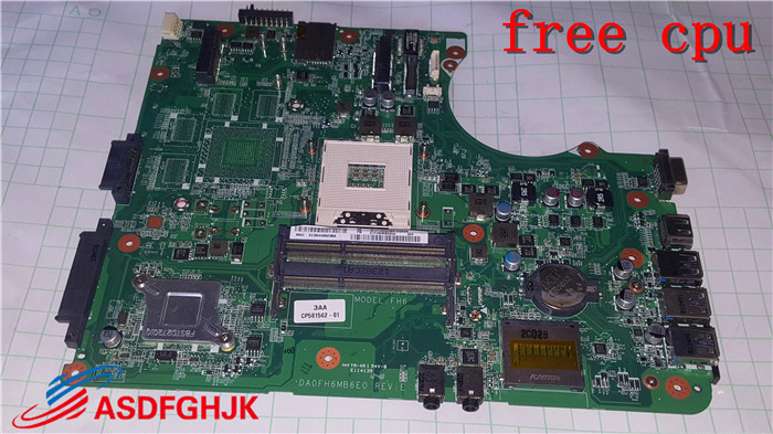 POUR Fujitsu Lifebook Ah532 Mère D'ordinateur Portable Da0fh6mb6e0 D-113 100% TESED OK