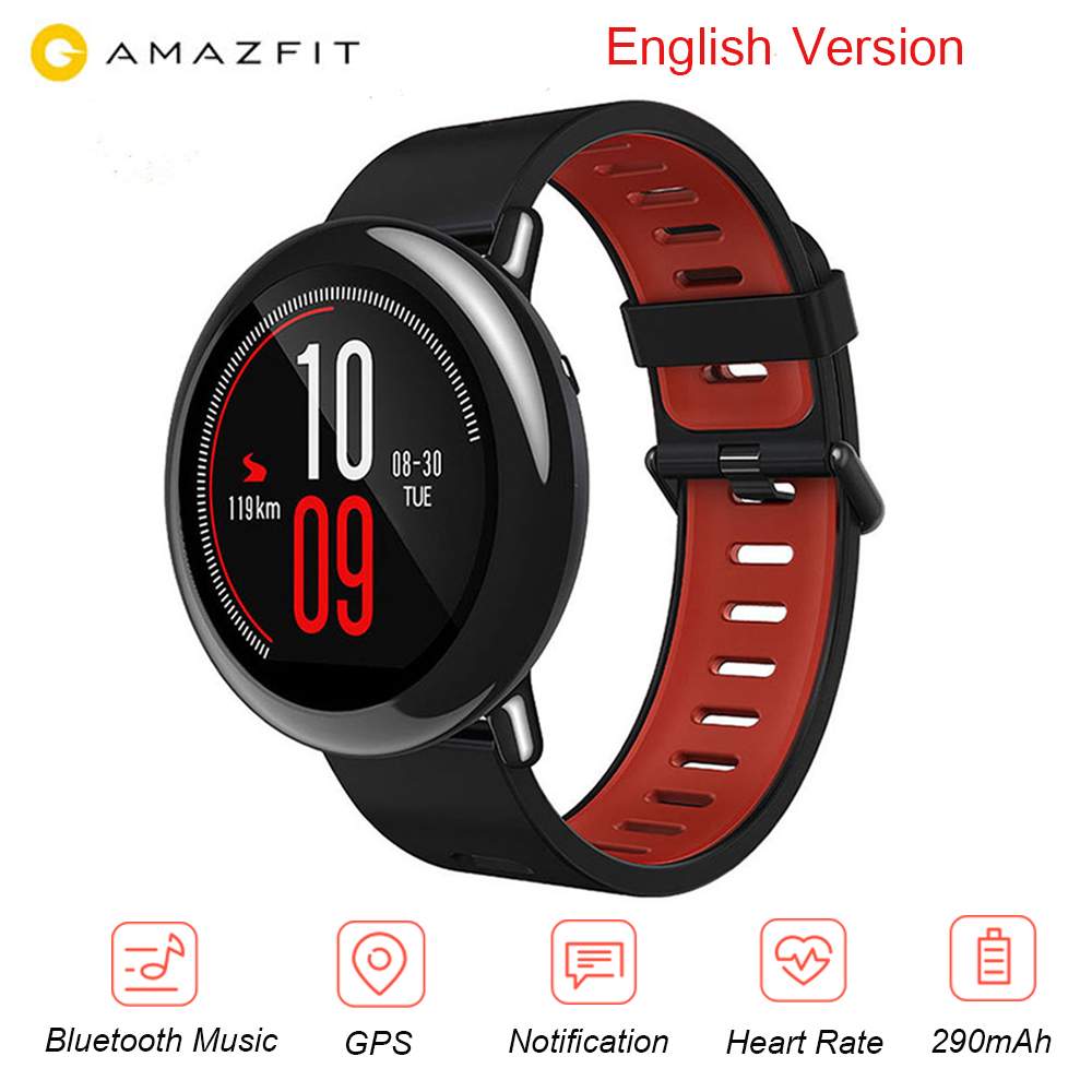 Huami AMAZFIT Smartwatch Pace Sports English Version Heart Rate Monitor GPS Bluetooth 4 0 For Android