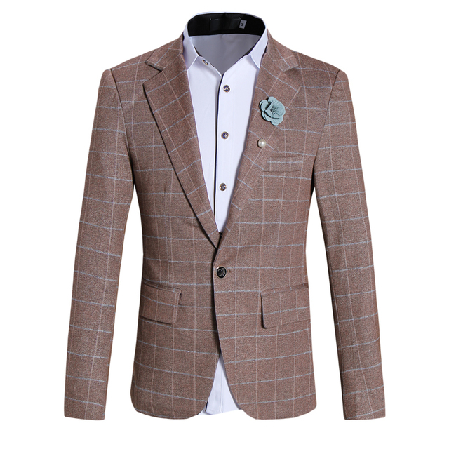 2016 New arrival outono & inverno xadrez Blazer dos homens Blazer Casual Para Homens Blazer terno do casamento Dos Homens S, M, L, XL, XXL, 3XL, 4XL, 5XL, 3 cores