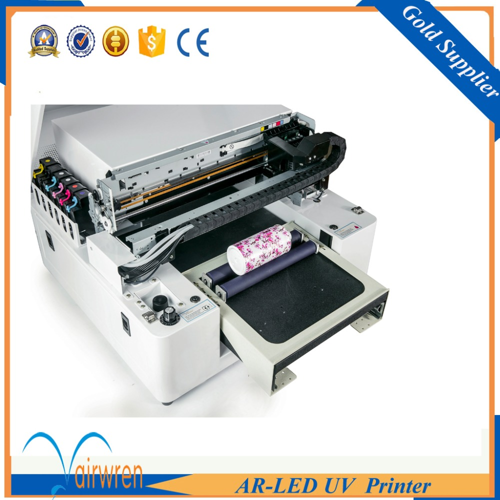 Factory price printer Flatbed a3 uv printer for metal glass candle printing with embossed effect  цены