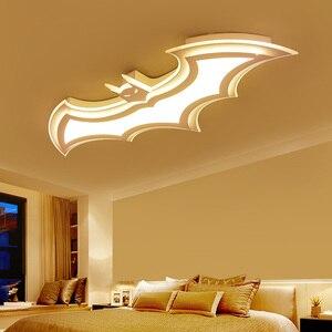 Image 1 - Kids Room Lamp Batman Led Chandeliers Childrens Room Bedroom Acrylic Modern Spot Ceiling Decor Home Lustre