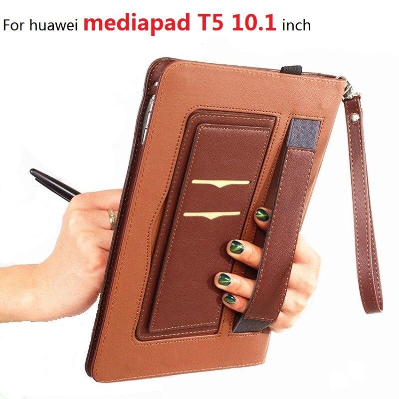 Pour huawei mediapad T5 housse de protection 10.1 pouces housse de tablette en cuir tout compris anti-chute coque de protection T5 10.1