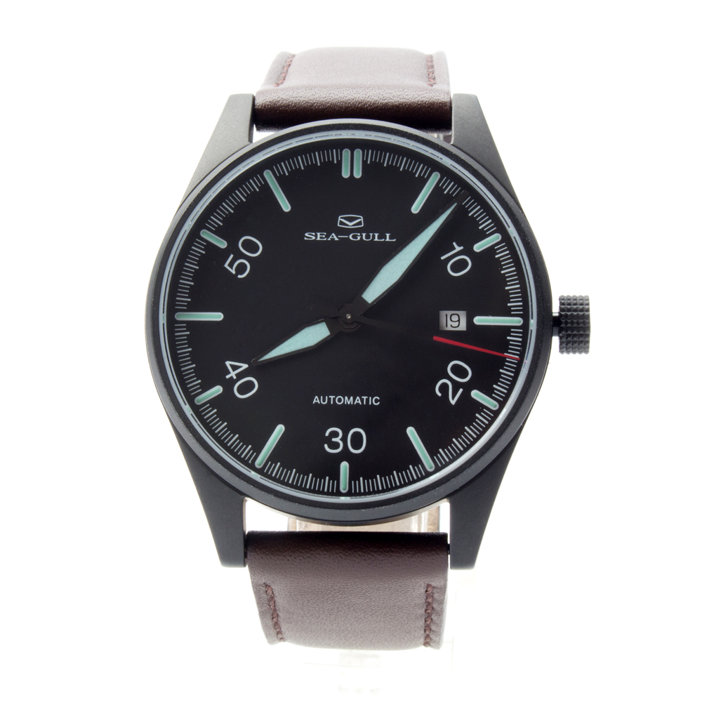 Seagull Genuine Leather Band Classic Vintage Luminous Hands Automatic Men's Watch Sea-gull 819.583H